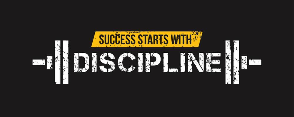 Success starts with discipline motivational